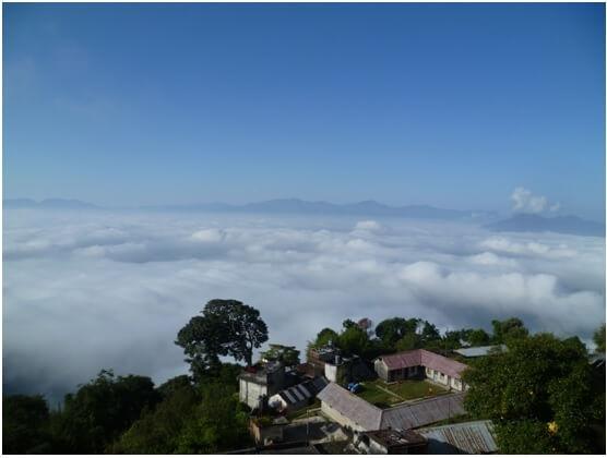 Под облаками долина Катманду